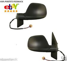 VW T5 Transporter 2010-2015  Door Wing Mirror Electric Black Pair Left & Right