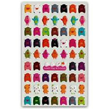 ✰ CUTE COLORFUL PIG BIRD & CHICKEN GEL STICKERS Epoxy Sticker Sheet Scrapbook