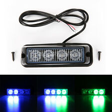 4W 4LED Emergency Light Traffic Flash Strobe Warning Lamp Police Car Blue&Green