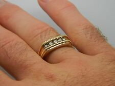 Gents 40 point 10K carat Yellow Gold Diamond Ring Size V Mens