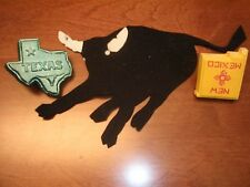 Philmont Bull Patch w/ Texas & N. Mexico Casted Painted Neckerchief Slide