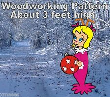 CINDY LOU WITH BALL CHRISTMAS WOODWORKING PATTERN,plan, craft 3 Ft. hIgh