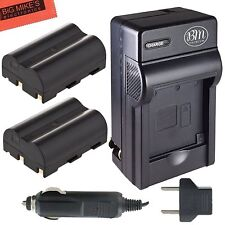 BM BP-511 BP511A 2X Batteries & Charger for Canon Optura 20, Xi, 10, PI, 200MC