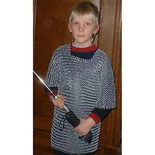 P44 - Kettenhemd verzinkt Größe S für 5 - 10-jährige Kinder