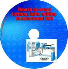 Learn how too do wood turning lathe milling instructional DVD - DIY guide