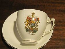Duchess Canada tea cup and saucer coat of arms