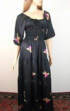 T-Bags Los Angeles Bird Print Maxi Dress XS NWT $225
