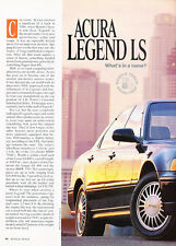 1991 Acura Legend LS - Road Test - Classic Car Print Article D110