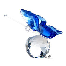 New Crystal Glass Cut Lovely Blue Butterfly Parked Clear Ball Child Gift Deco