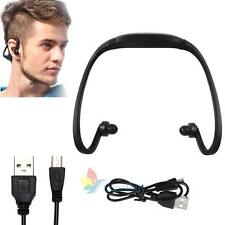 Wireless Sport Headset Headphone Earphone Music MP3 Player Micro TF FM Radio USA