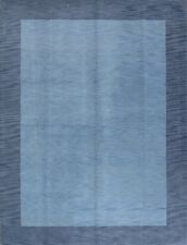 Thick Pile Contemporary Light Blue Modern 9x12 Gabbeh Oriental Area Rug Carpet