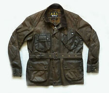 "MEGA RARE BARBOUR  "" WAX TRIALS "" MOTORCYCLE  JACKET - MED - STEVE MCQUEEN £395"