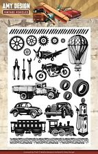 Amy Design Clear Rubber Stamps - Vintage Vehicles ADCS10014