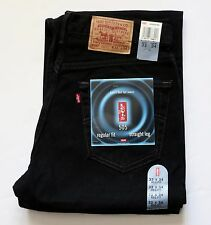 New Old Stock Levi's 505 Regular Fit Jeans Made in USA Men's Size W33 L34 Black
