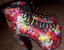IRON FIST LIKE A VIRGIN Mary BOOTS US 9 Cherubs Roses UNIF Dolls Kill  platform