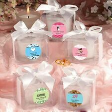 60 Personalized Candle Wedding Shower Party Gift Favors