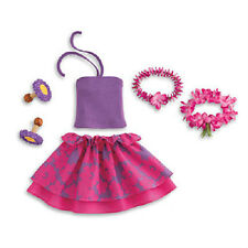 American Girl Kanani's LUAU OUTFIT Skirt Lu'au SET Wreath Lei for Kanani doll