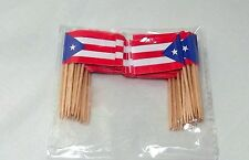 Puerto Rico Flag Cupcake Decor Adult Party Favor Supply Birthday 100Topper PickF