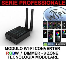 MODULO WIFI PER RGB RGBW 8 ZONE DIMMER LED 300 5050 STRIP STRISCIE 5630 WI-FI