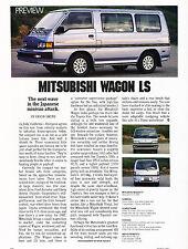 1987 Mitsubishi Wagon Van LS Original Car Review Print Article J343