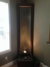 8 foot tall x 2 foot wide WATERWALL / WATER FALL with built in accent light