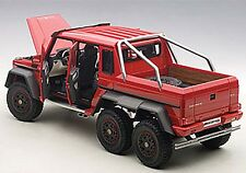 Autoart MERCEDES-BENZ G63 AMG 6x6 Red COMPOSITE MODEL 1/18 Scale New! In Stock!
