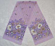VINTAGE  AUTHENTIC GIM RENOIR FLORAL ART PURPLE YELLOW LONG SCARF