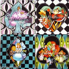New Disney Parks Alice In Wonderland Tea Party Bread Salad Dessert Plate Set 4