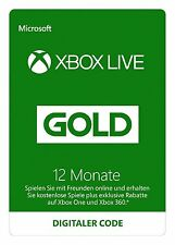 Xbox Live Gold 12 Monate EU Mitgliedschaft Code Key month 360 One  - SOFORT MAIL