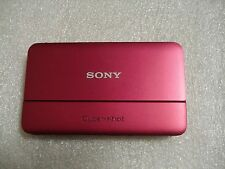 Very Nice Sony Cybershot DSC-TX55 16MP Digital Camera - Red- Super Compact