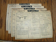 1949 50 52 55 Lincoln  A E A Tune-Up System Vintage LI 25 26 28 31 - 4 Charts