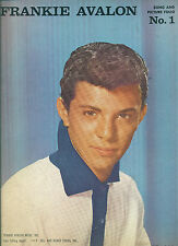 """FRANKIE AVALON """"SONG AND PICTURE FOLIO #1"""" PIANO/V/GUITAR CHORDS MUSIC BOOK 1960"""