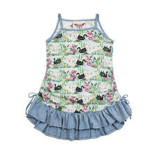 NWT Paper wings Organic Cotton swan bird drawstring singlet tank dress bustle 12