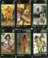 "Milo Manara Tarot English 79 Cards Deck MINI 1.8х3"" Erotic Nude Naked Sexy"