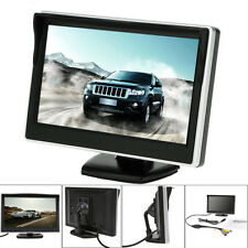 5'' TFT LCD Car Truck HD Rear View Backup Reverse Monitor Wired 2 Video Input