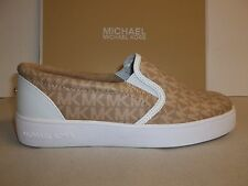 Michael Kors Size 4 Ivy Alita Camel Slip On Sneakers New Big Kid Girls Shoes
