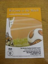 03/05/2015 Hitchin Sunday League Cup Final: The Boot Baldock v Whitwell [At Arle
