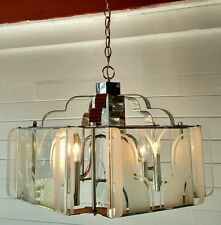 LARGE VINTAGE CHANDELIER by FREDRICK RAMOND ART DECO STYLE