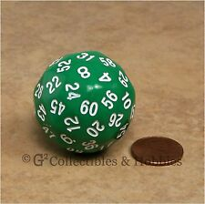 NEW Green D60 Sixty Sided Dice D&D RPG Game Koplow Random Time Seconds Minutes