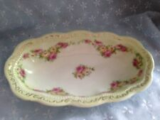 GERMANY  ANTIQUE MARKED THREE CROWN CHINA MINIATURE FINE FLORAL PAINTED  BOWL