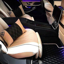 Mercedes S600 W222 Maybach Custom Leather Floor Mats w/ Pillows 2016 2017