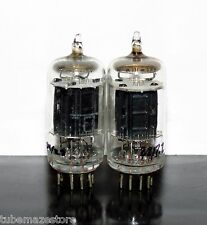 Matched Pair RCA 12AU7/ECC82 BLACK plates tube Foil D-getter - Test NOS