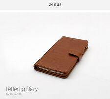 Zenus Lettering Diary Leather Flip Cover Cell Mobile Phone Case for iPhone 7Plus