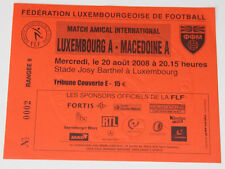Ticket for collectors * Luxembourg - Macedonia 2008