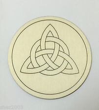 Handcrafted Wooden Altar Tile with Triquetra Symbol ~ Altar ~ Ritual ~ Spells