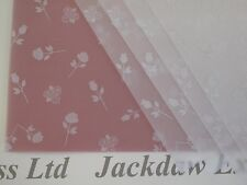 10 x A4 110gsm Printed Vellum Paper - White Roses for Cardmaking AM528