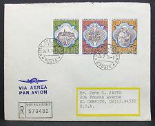 Vatican Airmail Cover Citta del Vaticano USPO Stamp Vatikan Lupo R-Brief (H-7703