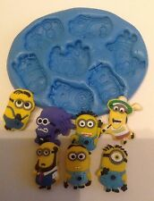 Silicone mould Minion mix ( cupcake Topper. Crafts.decorating tools.