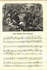 1852 Words And Music To The Woodland Stream 1