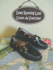 SPERRY TOP SIDER NON-MARKING BOTTOM SOLES..BLACK LEATHER & PATENT SZ 7/5